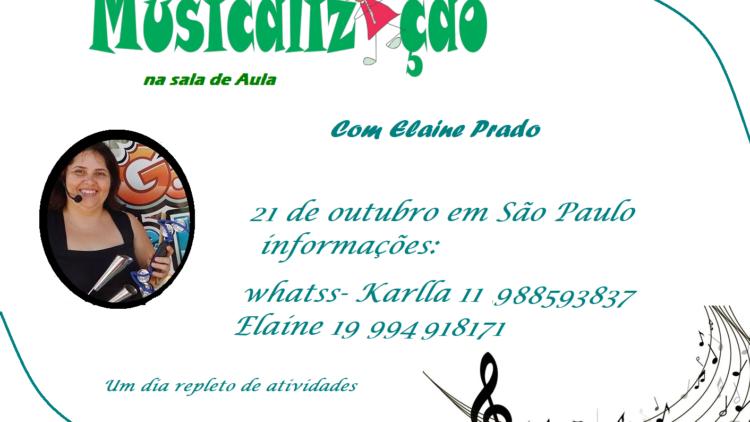 oficina em SP Com a Musicalizadora Elaine Prado